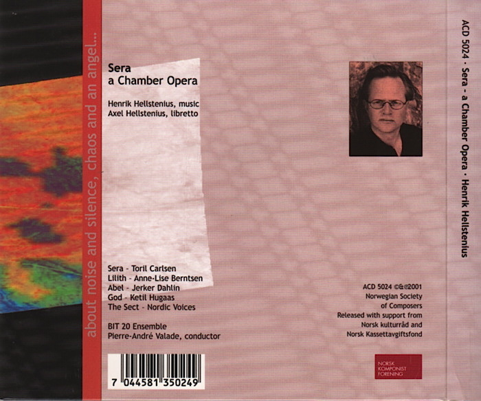 Opera by Henrik Hellstenius, conducted by Pierre-André Valade, details