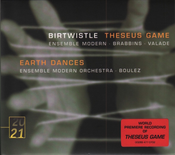 Music by Harrison Birtwistle, Ensemble Modern, conducted by Pierre Boulez, Pierre-André Valade, Martyn Brabbins