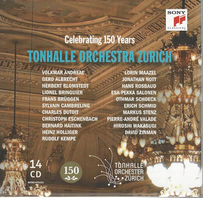 CD Tonhalle Orchester 150 years, cover