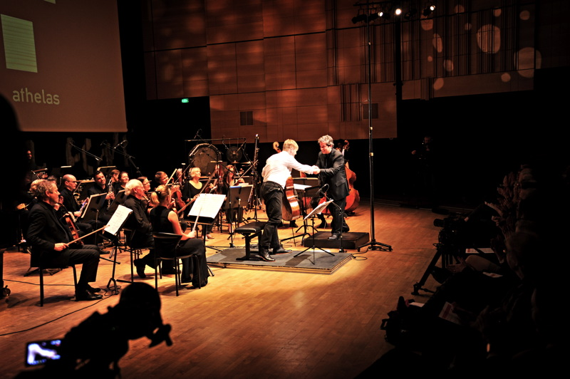 Pierre-André Valade, Jakob Kullberg and Athelas Sinfonietta at the Black Diamond, Copenhagen Nov. 2013