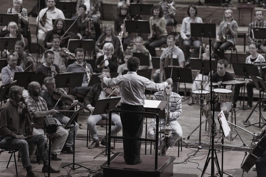 Pierre-André Valade, dress-rehearsal with the Polish National Radio Symphony Orchestra Katowice, Warsaw, Sept. 2011