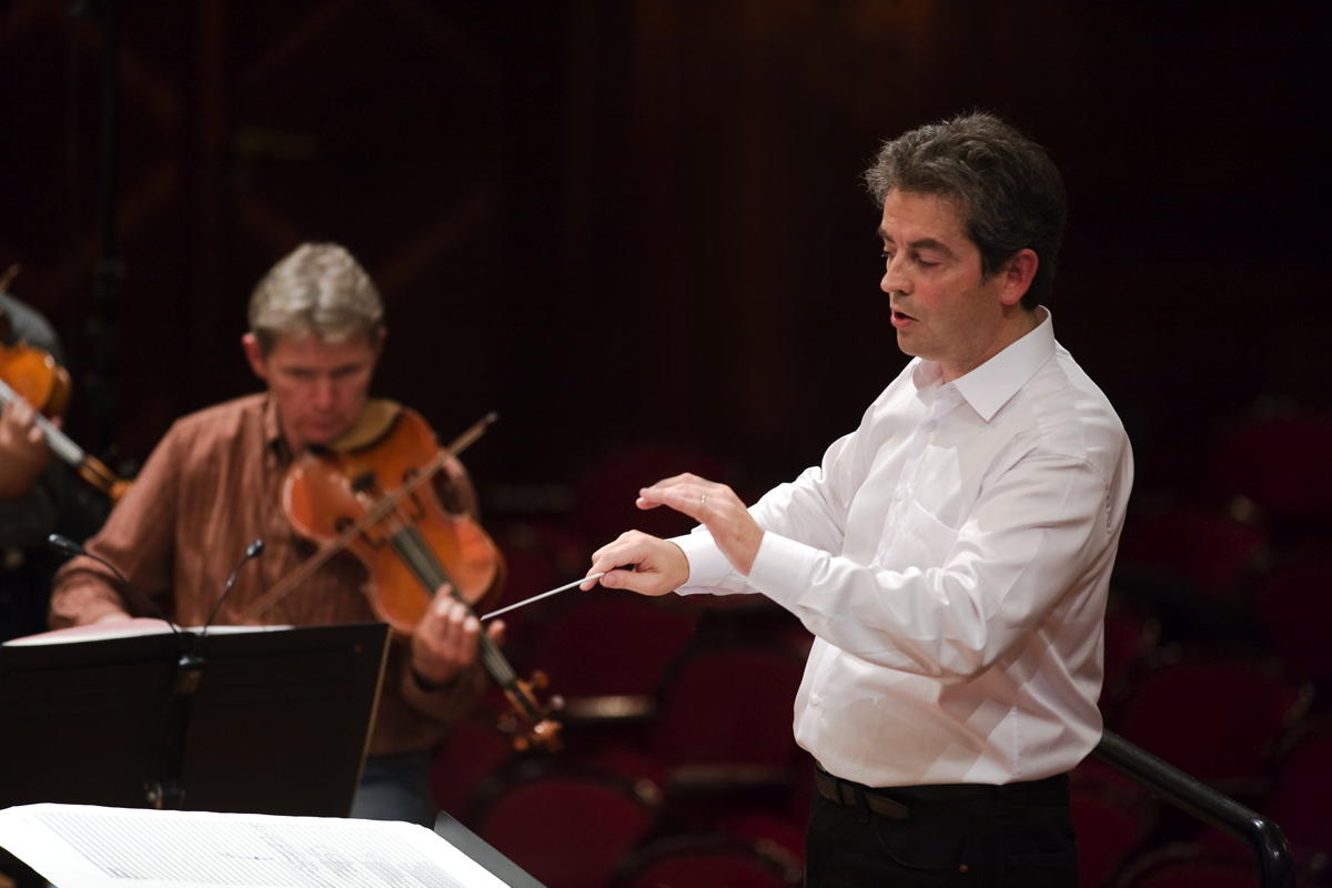 Pierre-André Valade rehearsing with the Polish National Radio Symphony Orchestra Katowice - Warsaw, Sept. 2011