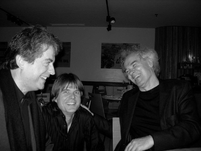 Pierre-André Valade and composer Michaël Jarrell and bassist Enno Senft, London, 2008