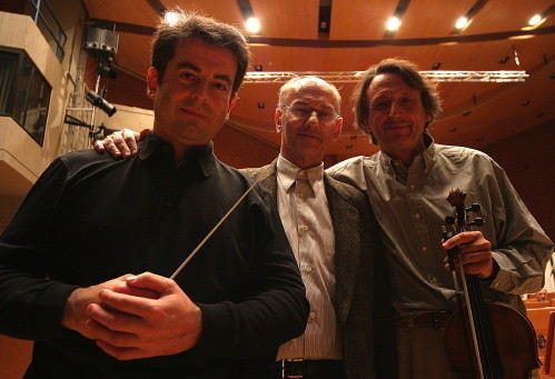 Pierre-André Valade, with Hugues Dufourt and Gérard Caussé, Luxembourg, Nov. 2004