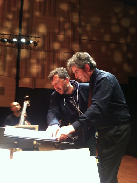 Pierre-André Valade and composer Thomas Adès, Copenhagen, Oct. 2015