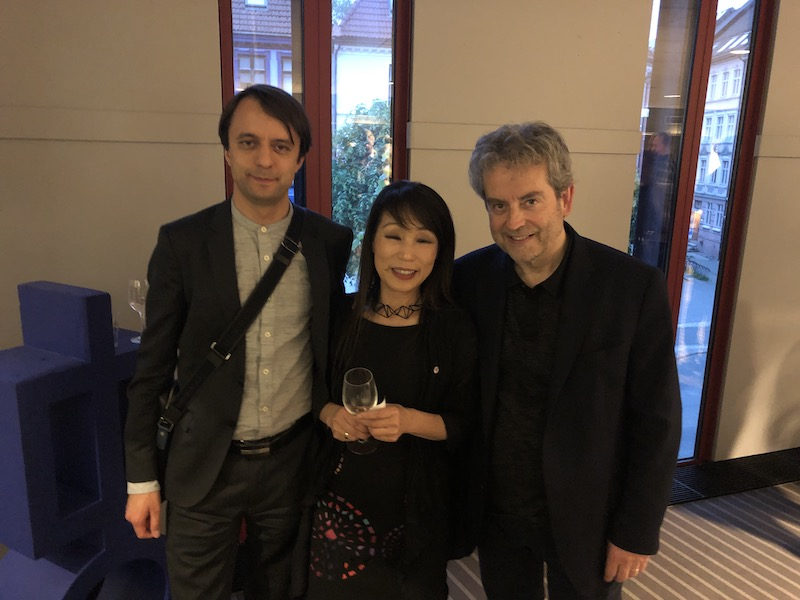 Pierre-André Valade and composer Unsuk Chin, Bergen, May 2019