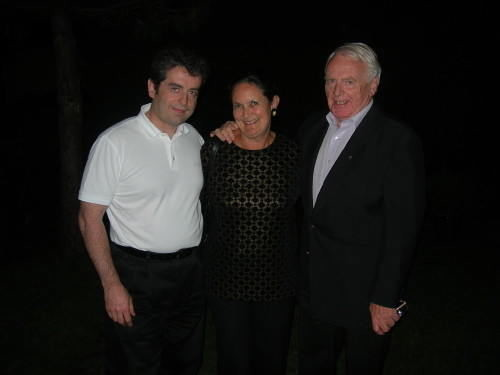 Pierre-André Valade with Lynn and David Blenkinsop, Paris, 2005